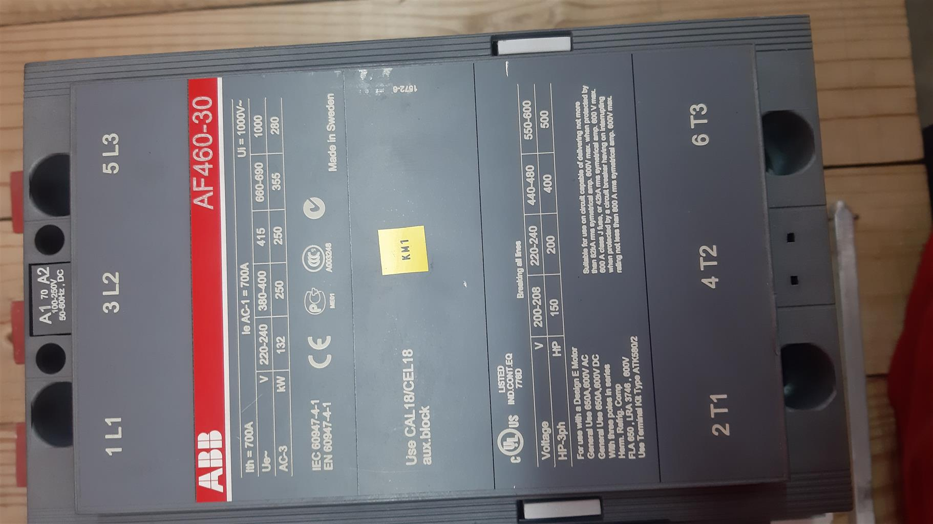 800 a ABB circuit breaker with 800 a contactor