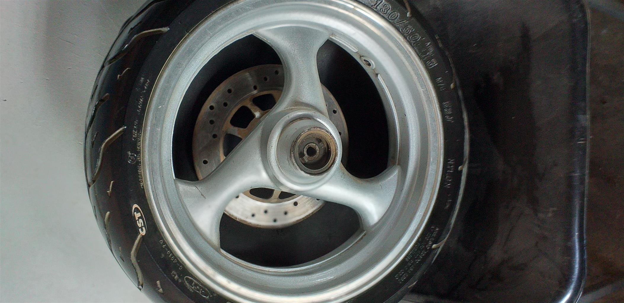 SCOOTER RIM AND TYRE