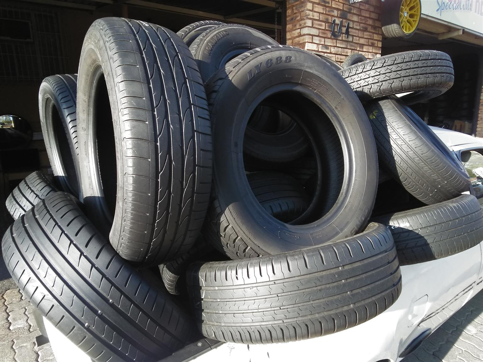 All Sizes of Quality Second Hand Run Flat and Normal Tyres Available for Sale.