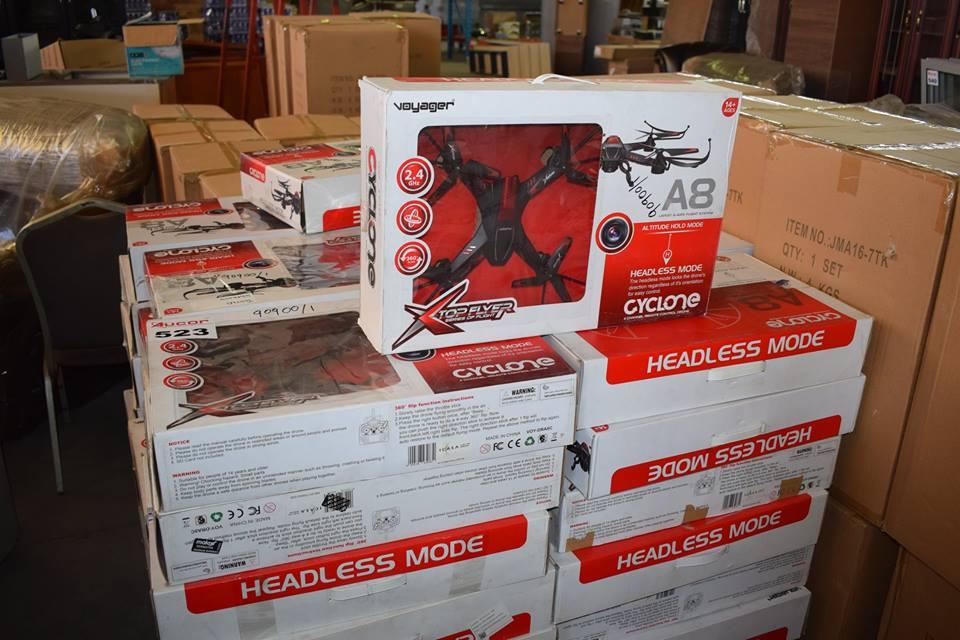 Top flyer cyclone drones