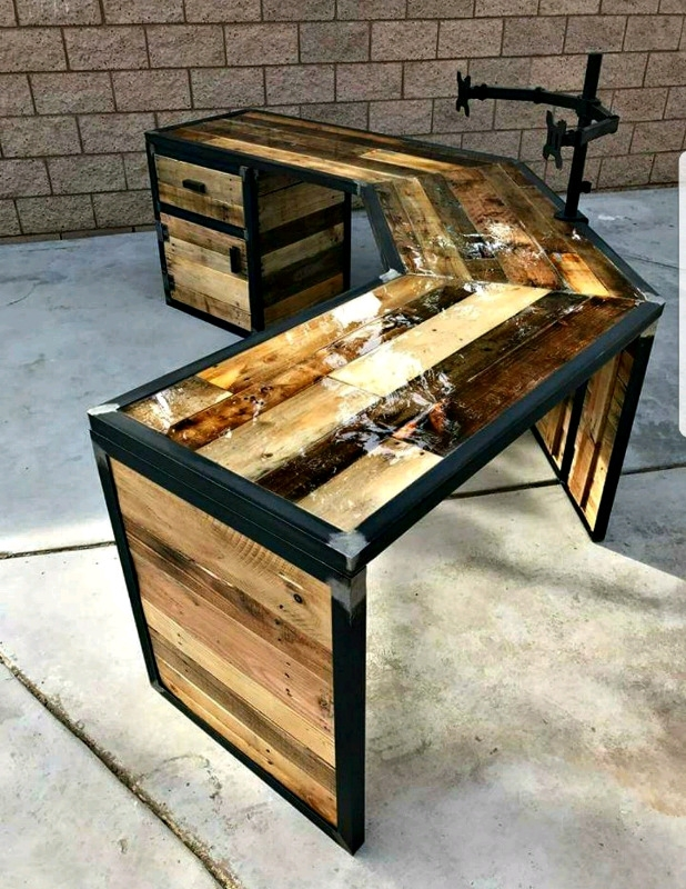 Wooden And Steel Furniture Creativity