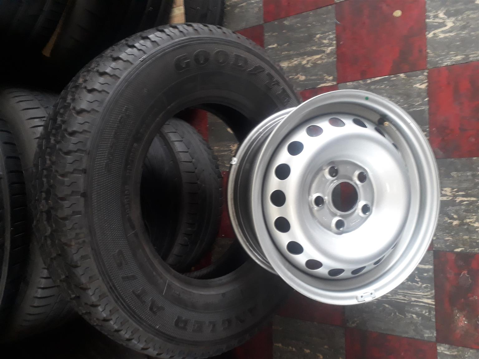 """16"""" Amarok rim and tyre for spare wheel"""