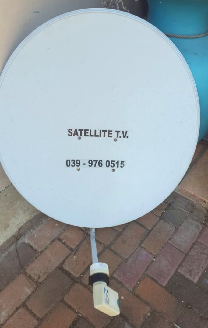 Large Satellite dish with smart LNB for sale.