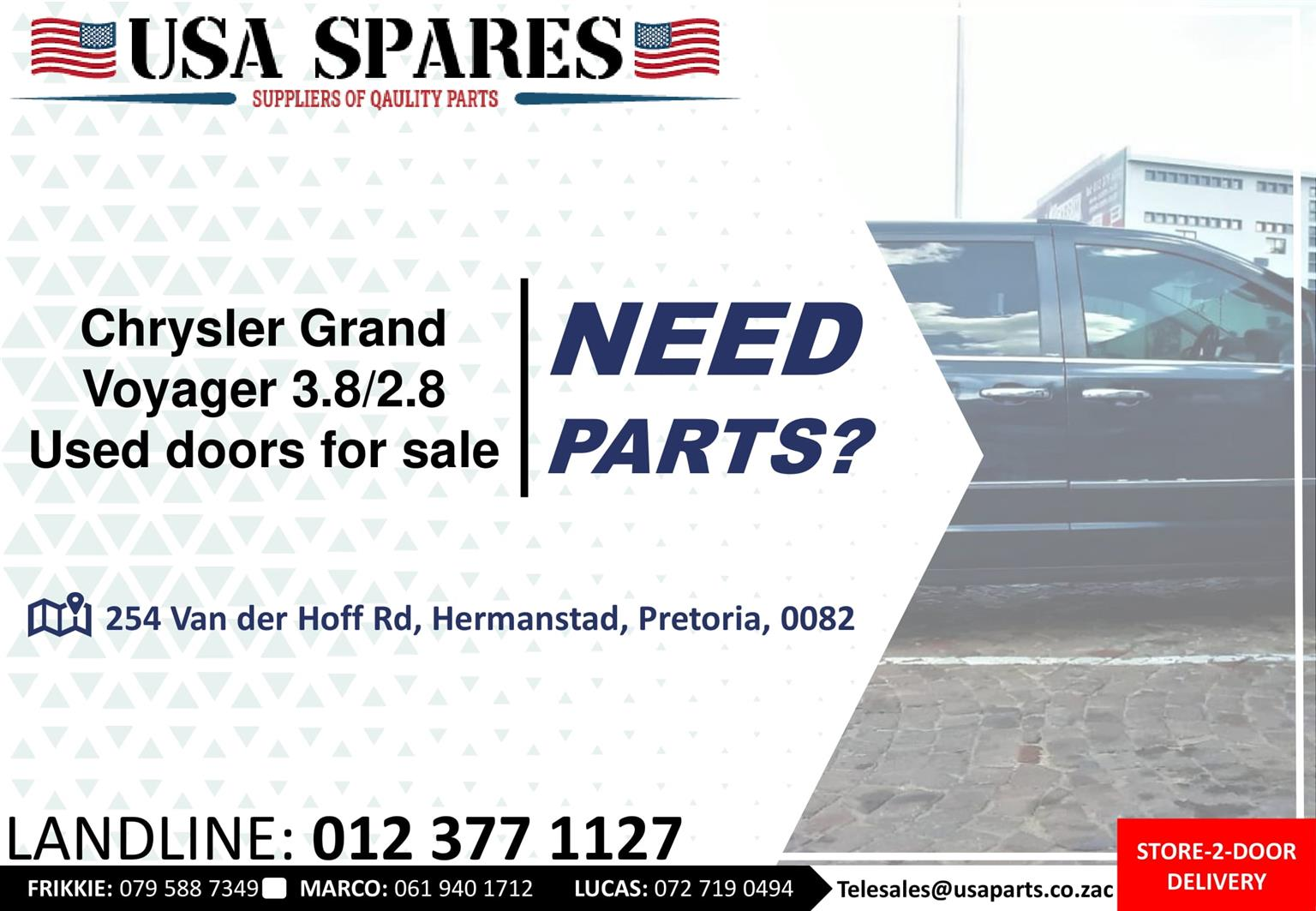 Chrysler Grand Voyager 2.8/3.8 MK3 used doors for sale