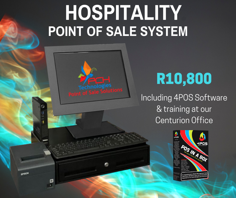Hospitality Point of Sale System (Refurb) R10800 Incl VAT