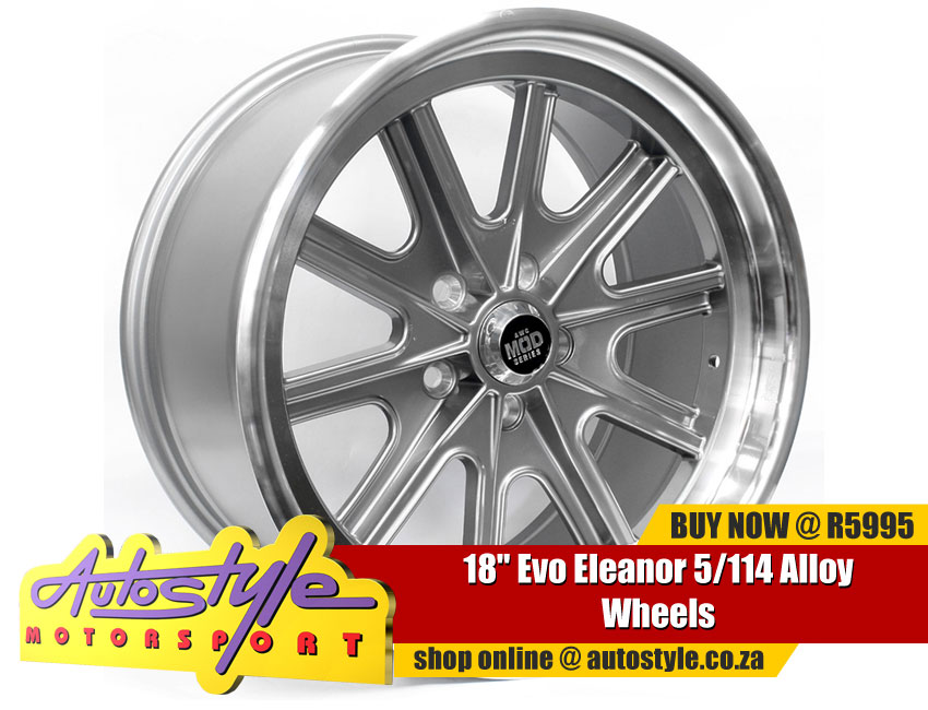 18 inch Evo Eleanor 5-114 Alloy Wheels