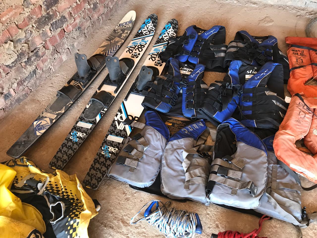 Life Jackets, Ski's, Ski Rope and Tube