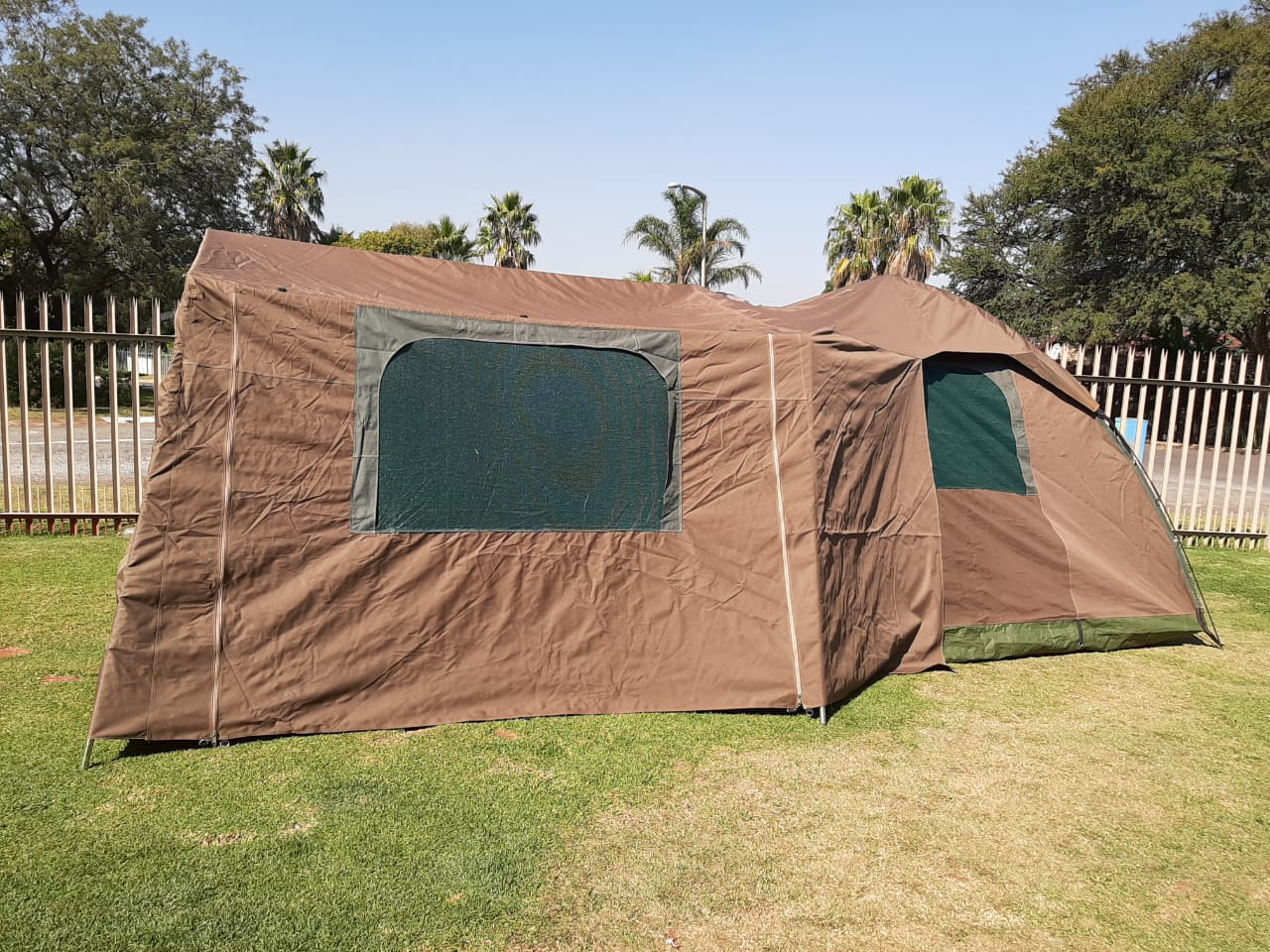 newest 943f5 941b5 3 x 3 Army canvas tent with extension and ground cover for sale, genuine  army canvas not the one u buy from Makro was specially made at a tent ...