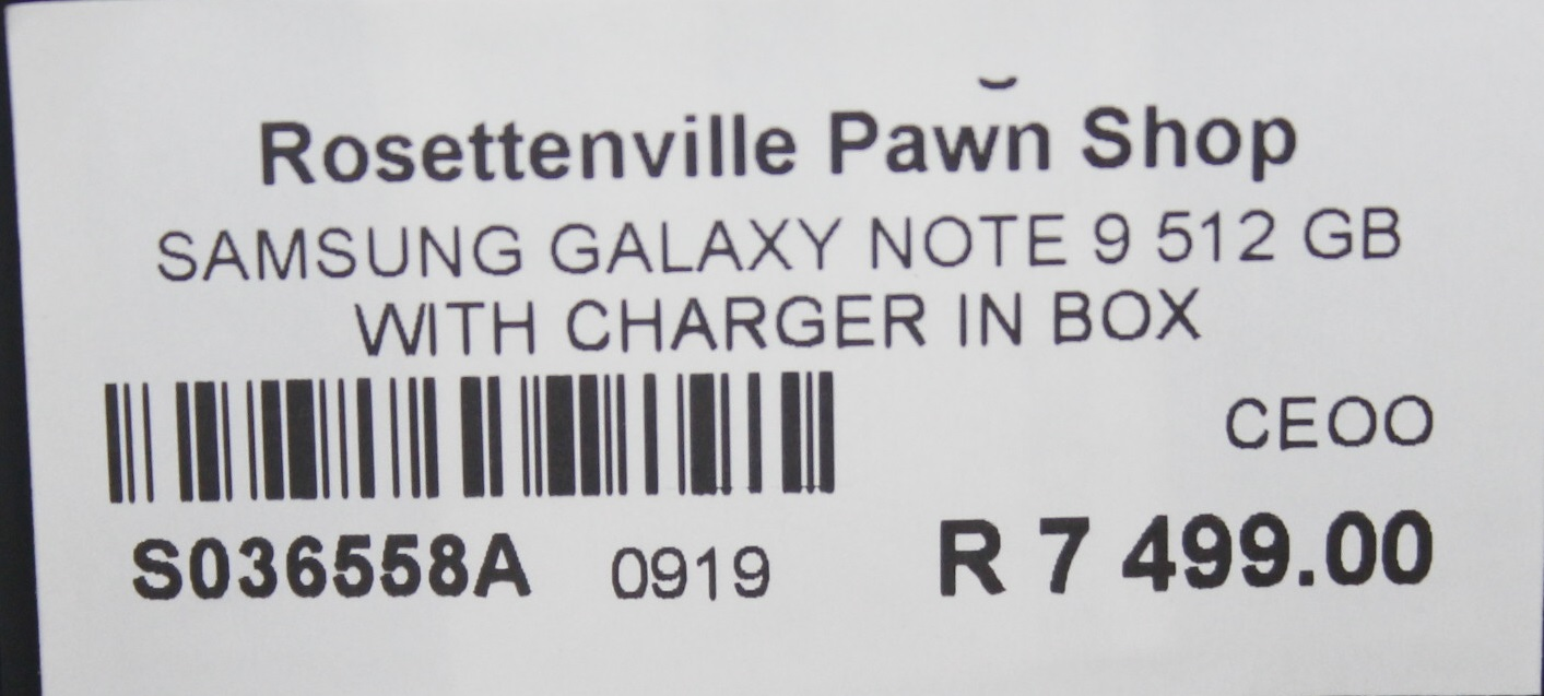 Samsung galaxy note 9 512 GB with charger in box S036558A #Rosettenvillepawnshop