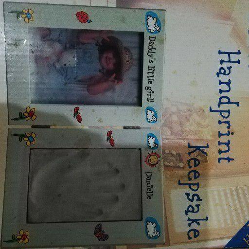 Photo and Handprint Keepsake
