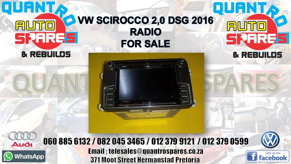 vw scirocco 2016 radio for sale