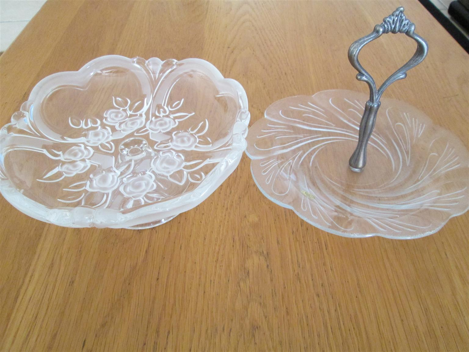 2 New Sweet or Biscuit Tray