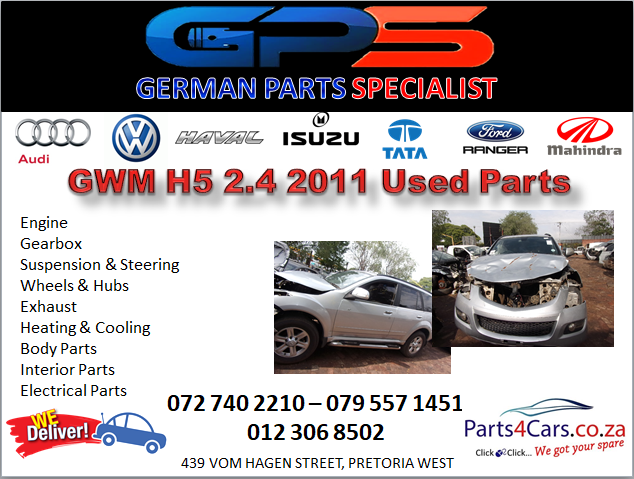 GWM H5 2.4 2011 Used Parts for Sale