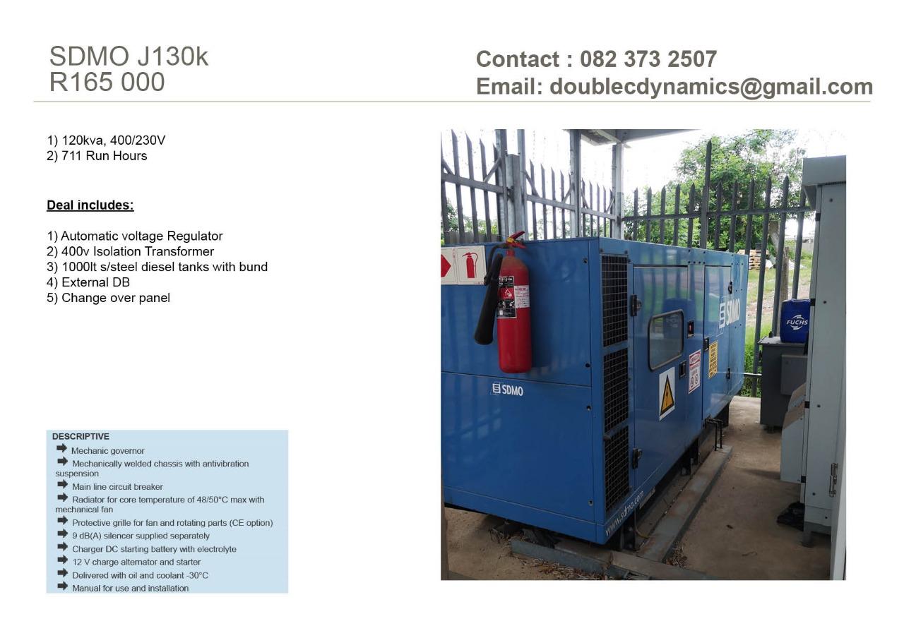 60 - 118 kVA GENERATORS FOR SALE