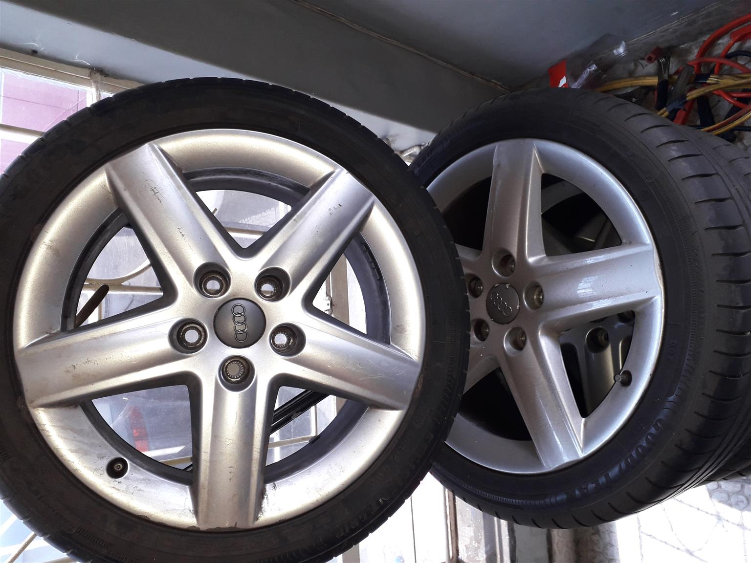 Audi 17inch rims with nearly new Goodyear tyres | Junk Mail