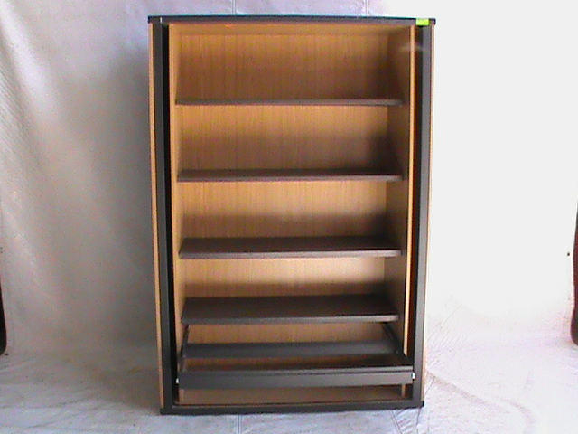 4 Tier bookcase with pull out cradle Oak