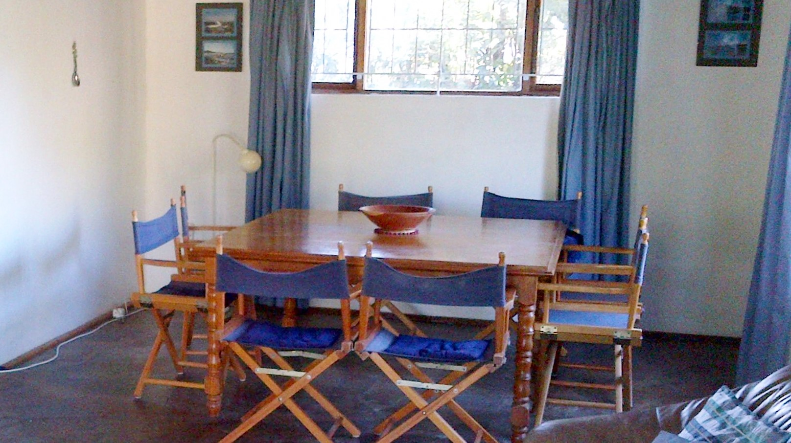 Dining table,  square 8 seater, solid wood with veneer top