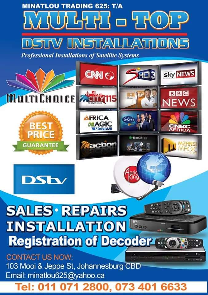 we do dstv and Ovhd installation