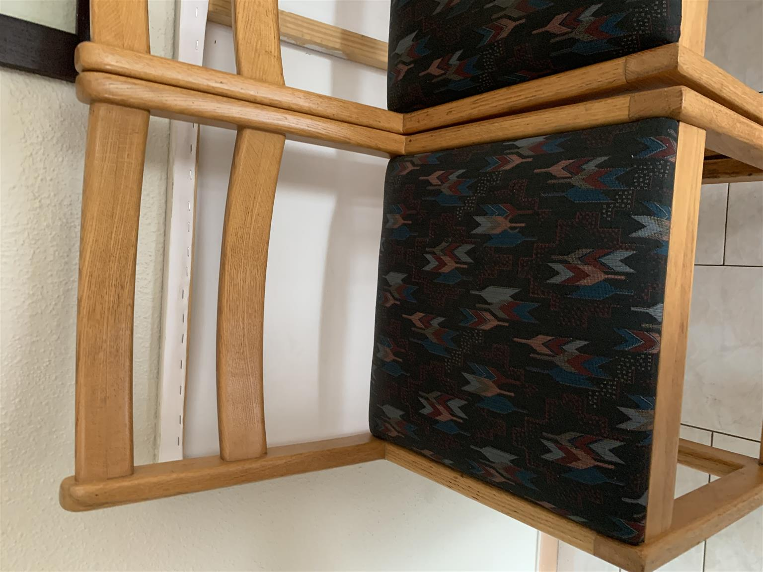 Solid Oak Bar Chairs