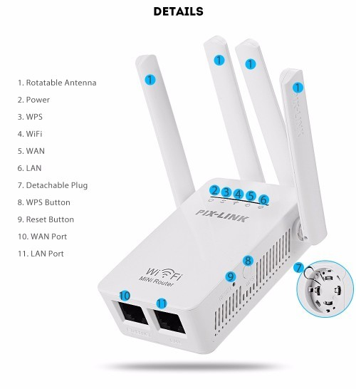 NEW - Wireless-N WiFi Repeater/Router/AP - WiFi Repeater - WiFi Router - WiFi Access Point