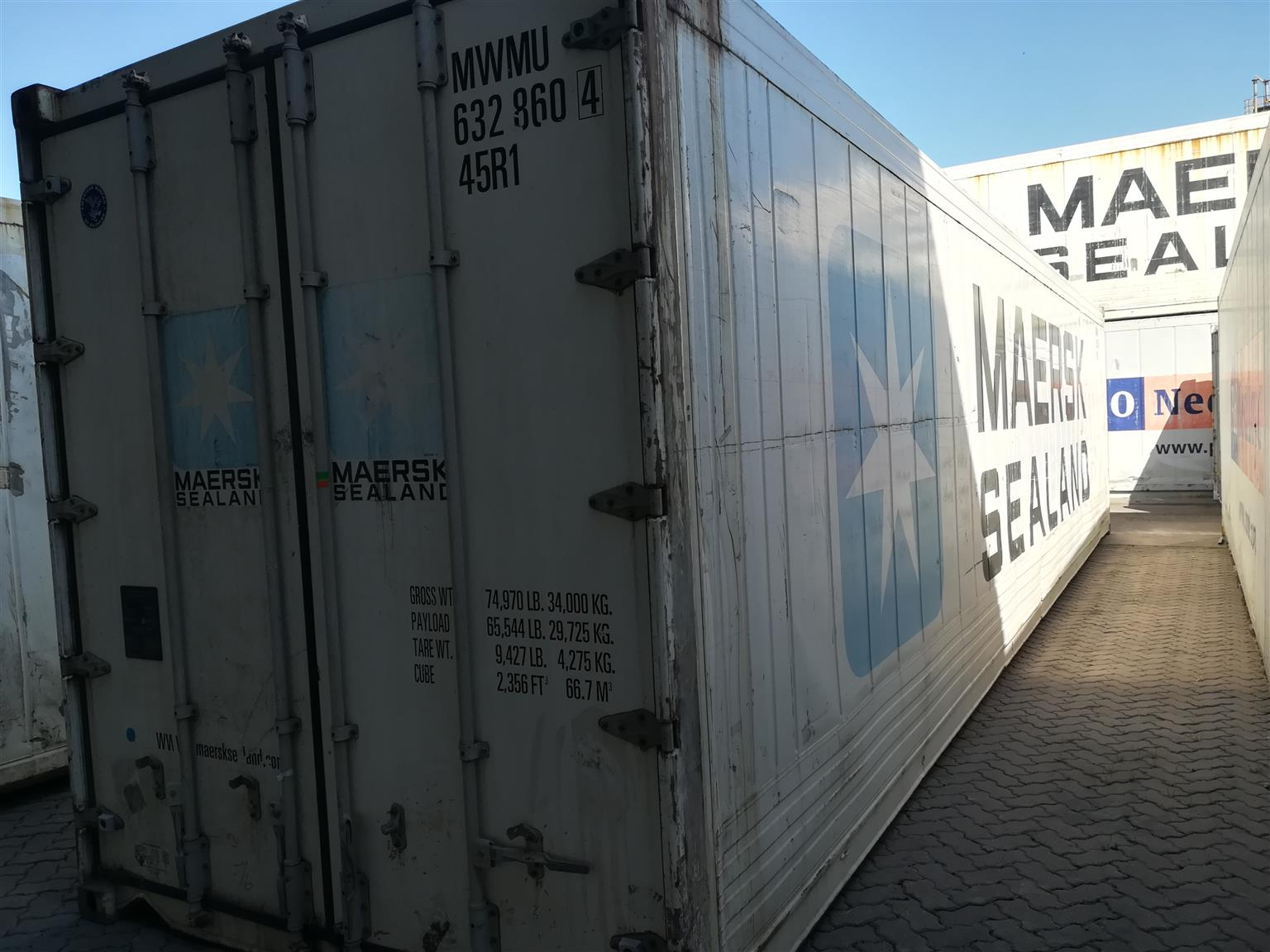 12m non-running reefer containers for sale