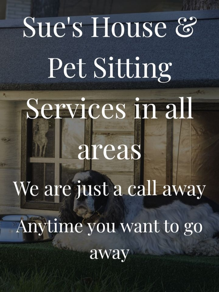 Sue's House and Pet Sitting Services in all areas