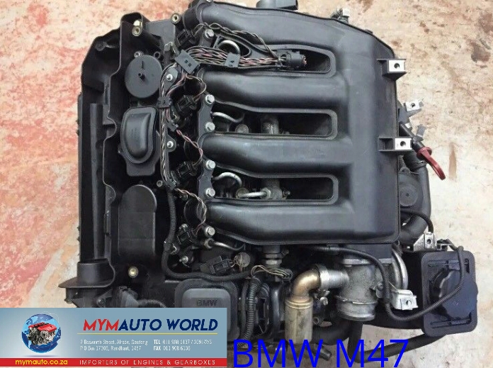 Imported used BMW E46 4 CYLINDER DIESEL, M47D,  Complete second hand used engines