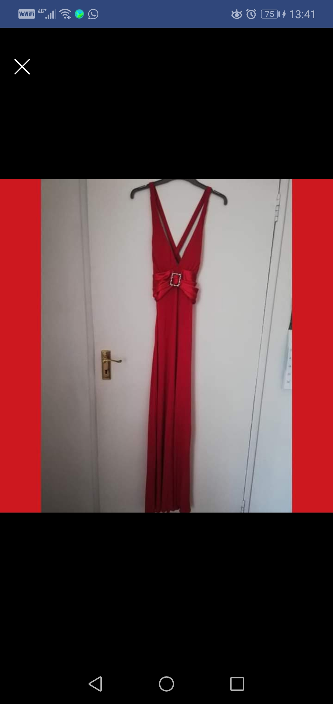 Evening dress in red