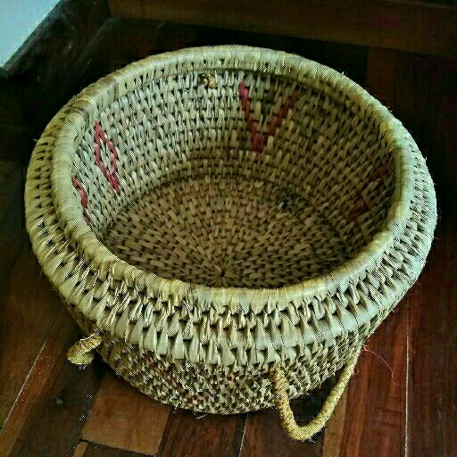 Cat basket with carrying handles and new cushion