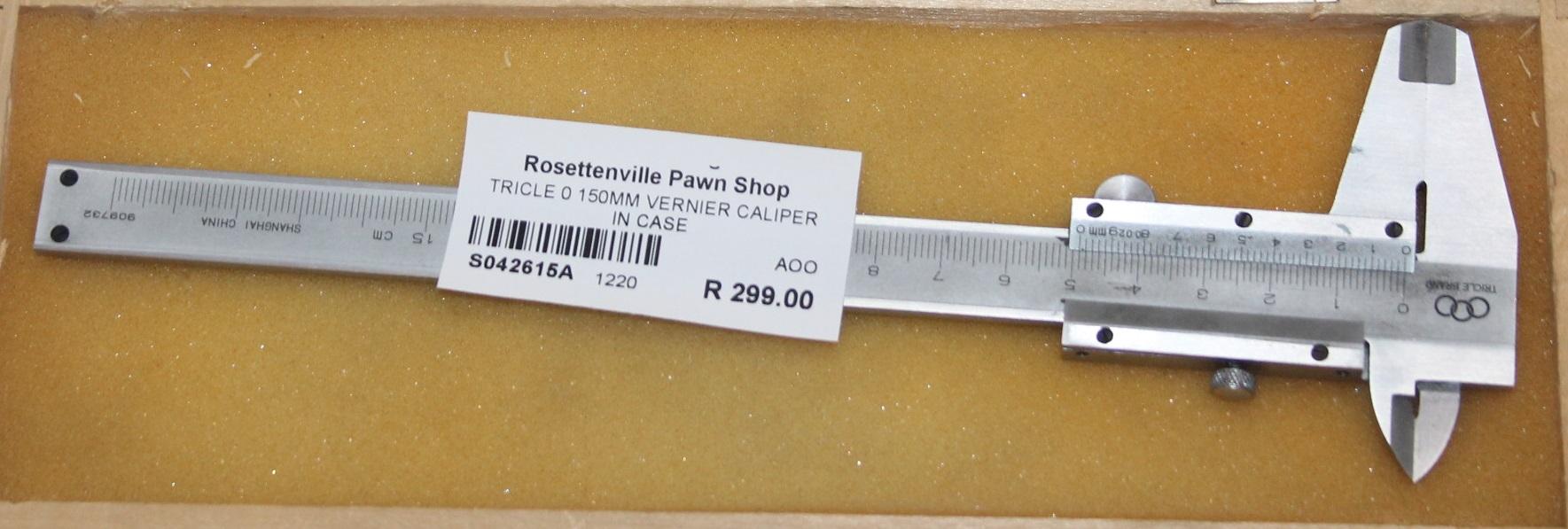Tricle 0-150mm vernier caliper in case S042615A #Rosettenvillepawnshop