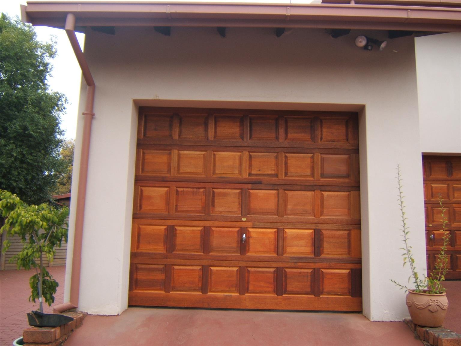 Single And Double Meranti Garage Doors In Pretoria City