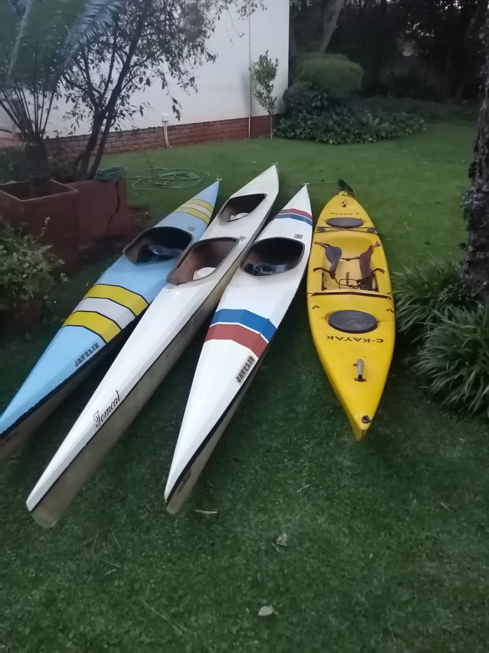 Canoes and Kayak for sale.