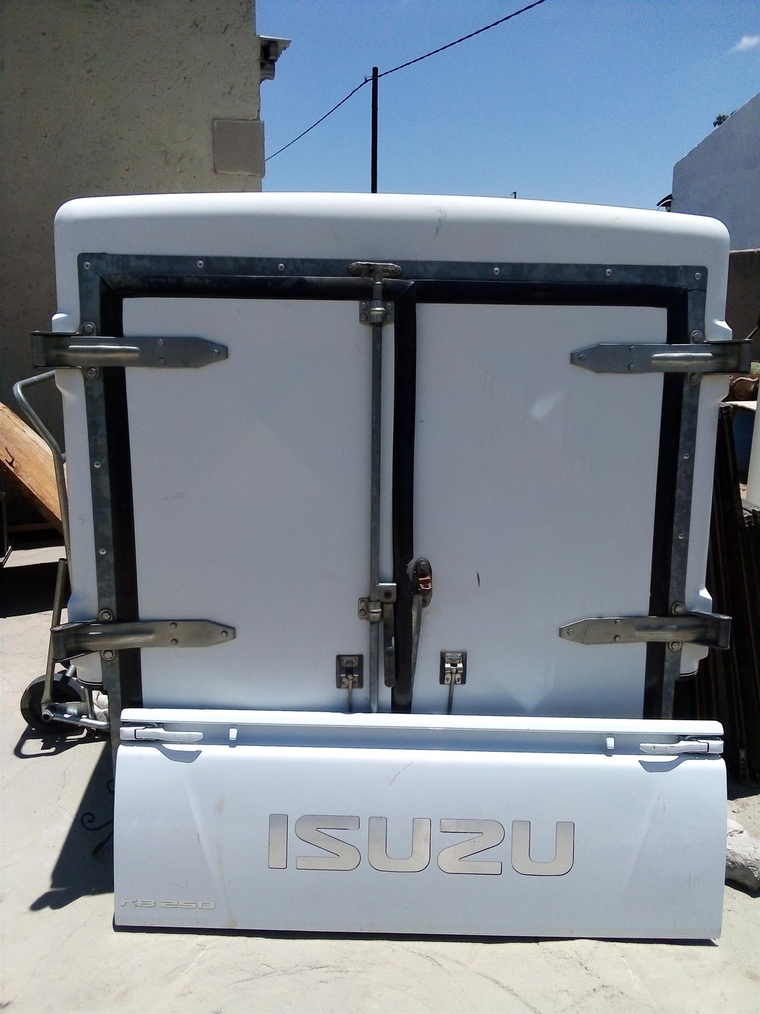 Courier canopy and Isuzu Tailgate