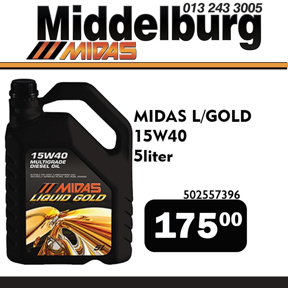 Midas Liquid Gold Engine Oil