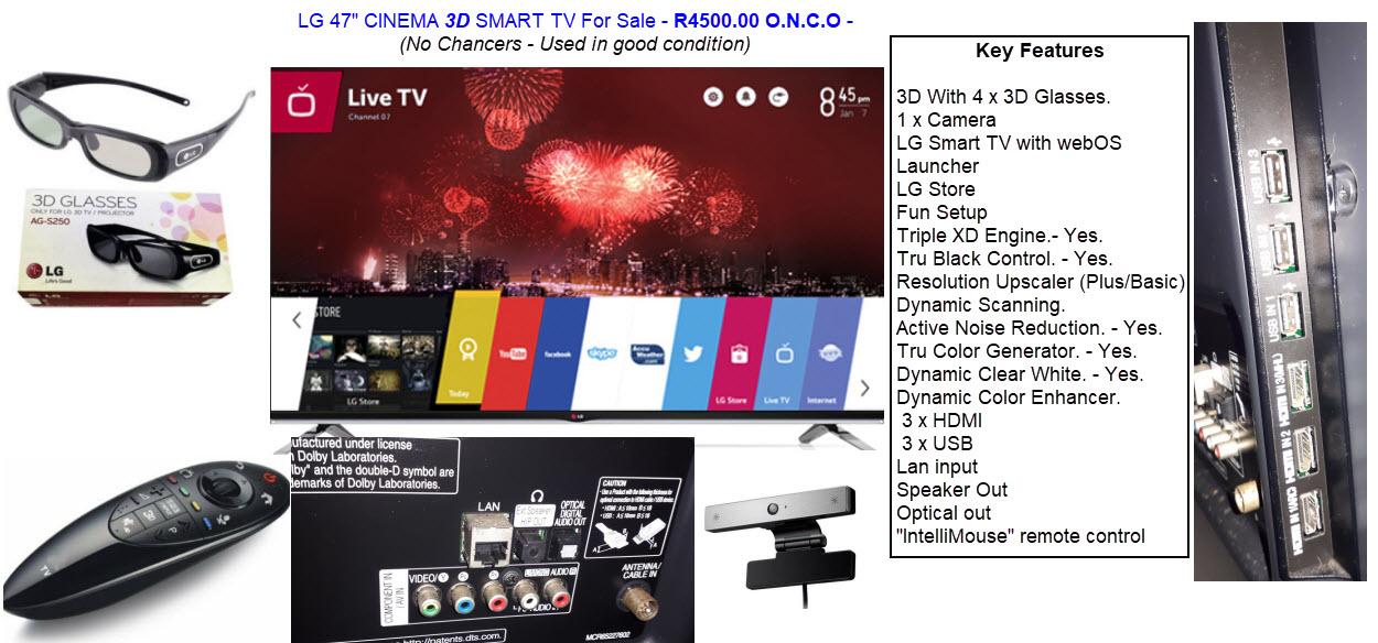 """LG 3D 47"""" led TV"""