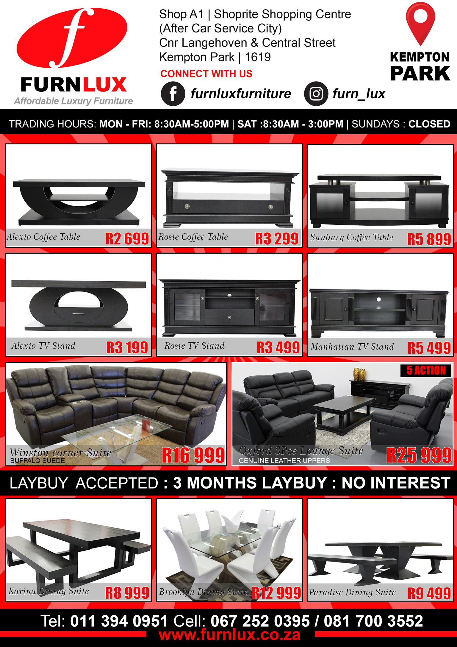 DINING SUITE BRAND NEW !!!!!! KARINA DINING SUITE FOR ONLY R8 999