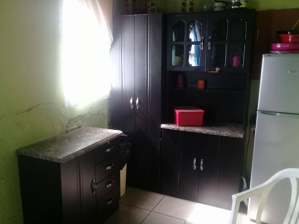 Dark wooden kitchen unit for sale