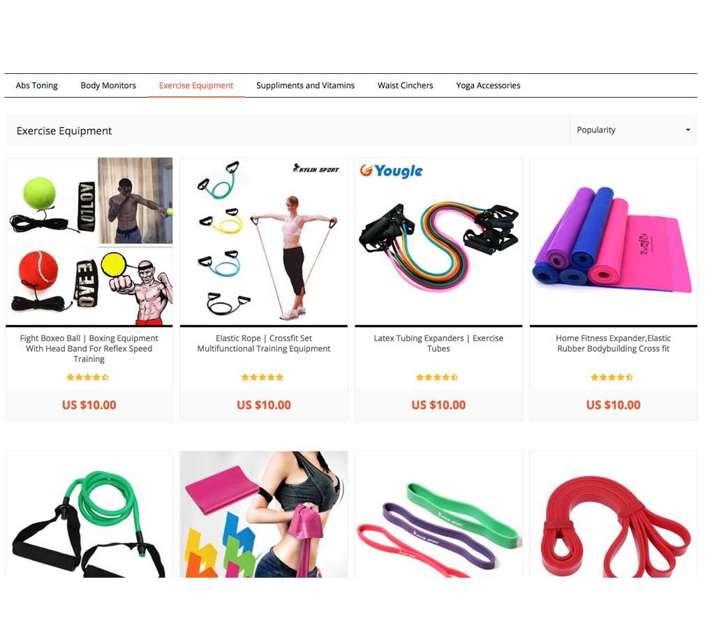 Online Shopping Website: FitnessGym | 680+ Products