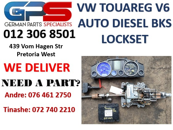 VW TOUAREG V6 TDI AUTO DIESEL 2007 LOCKSETS FOR SALE