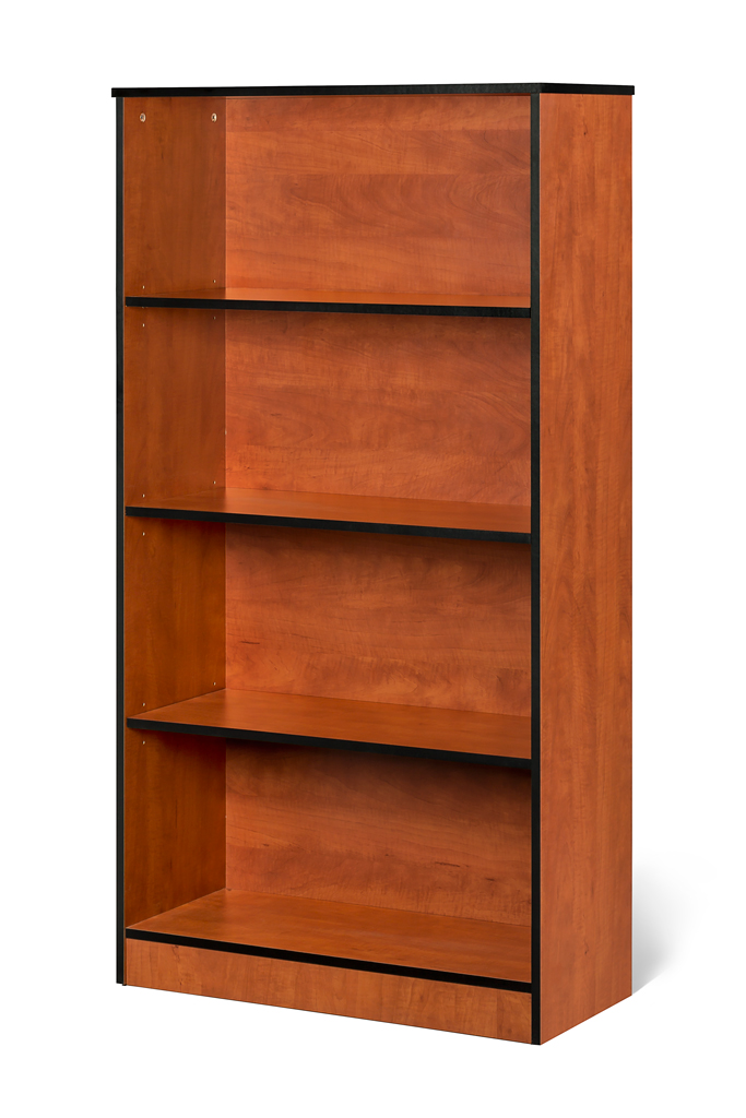 4 Tier bookcase available in Oak, Cherry and Mahogany.
