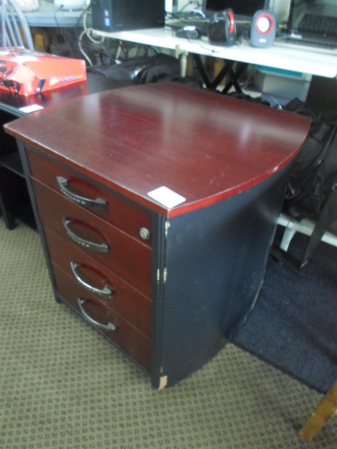 Wooden Office Cabinet with Drawers - B033048143-11