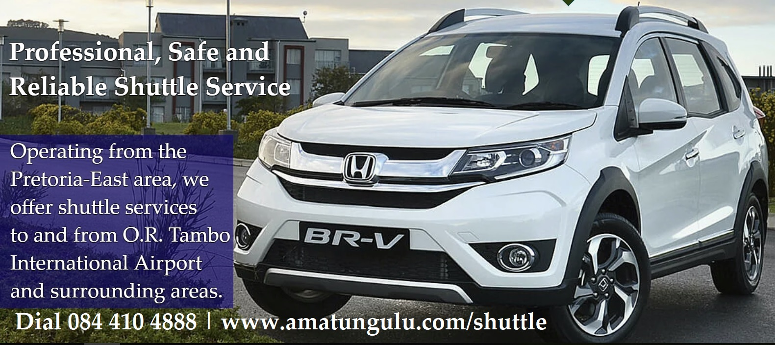 Professional, Safe and Reliable Shuttle Service