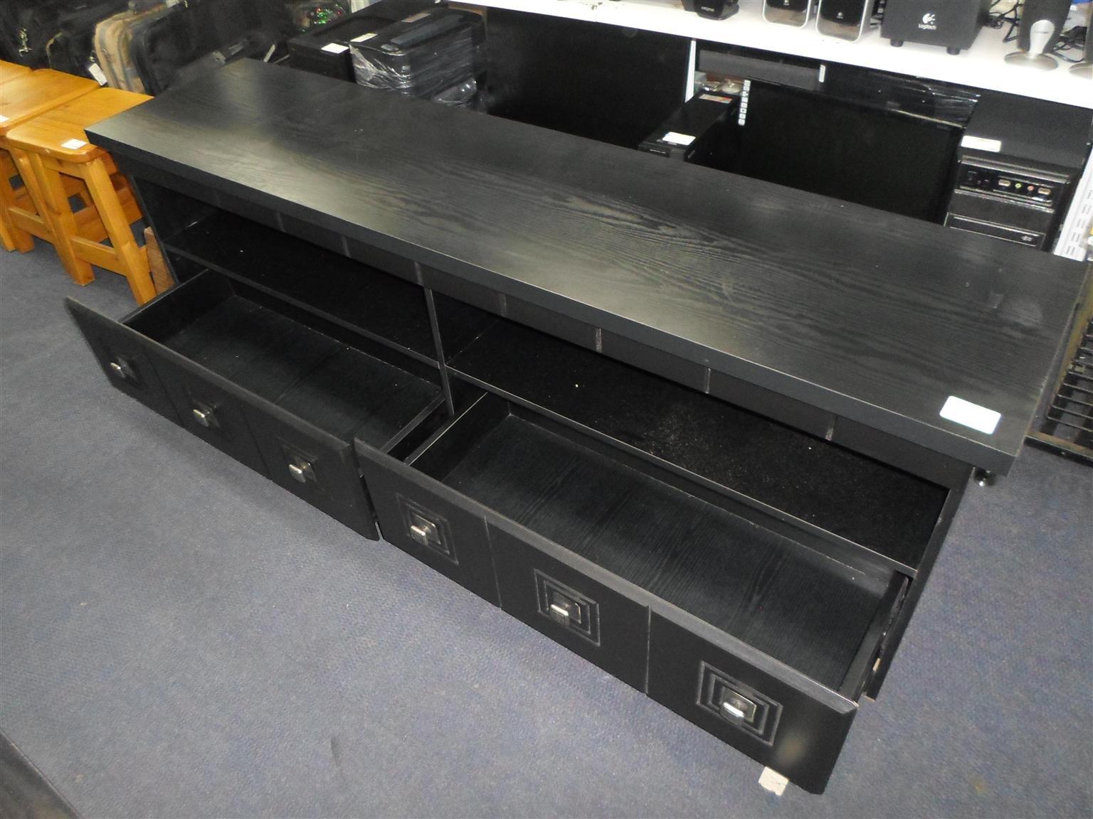 Wooden 2 Drawer TV Cabinet.