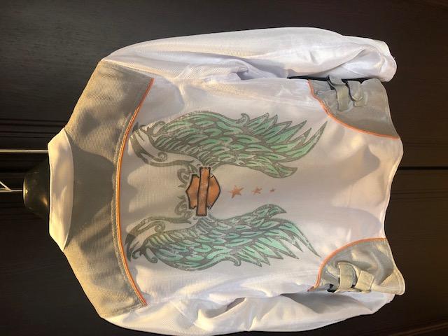 Ladies White Harley Kevlar Summer Bike Jacket.