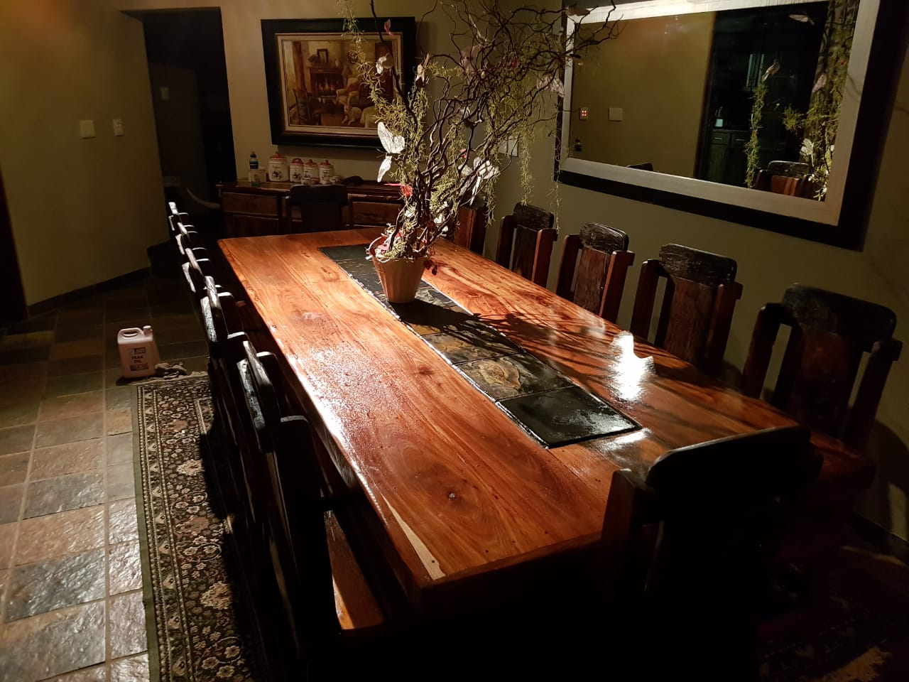 Elegant sleeper wood dining room table