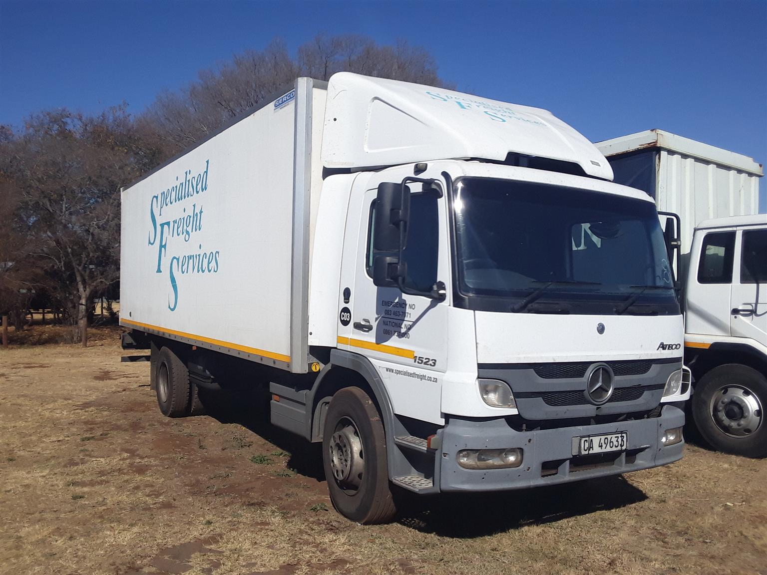 2012 Mercedes-benz Atego 1523 with closed body