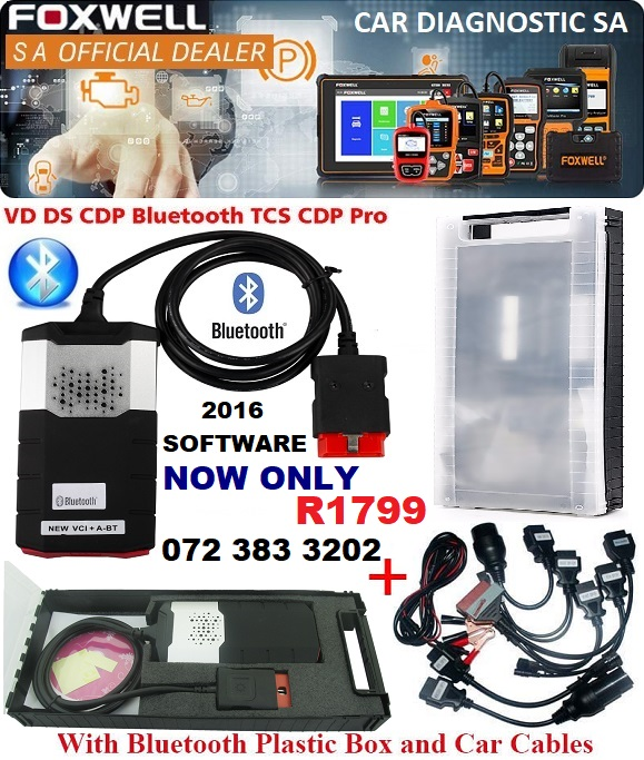 Delphi DS150E Pro Diagnostic Tool 2016 1 keygeng Bluetooth + 8 Car Adapters  and comes in a case