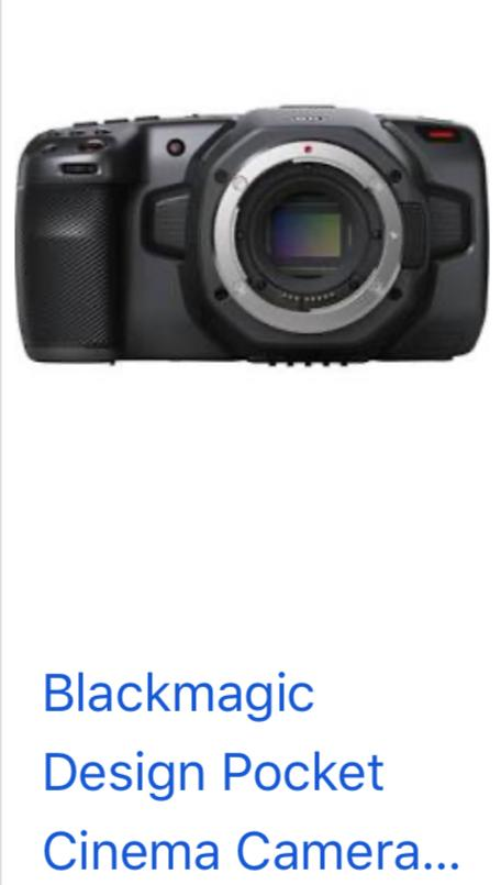 Blackmagic 6k Pocket Cinema Camera