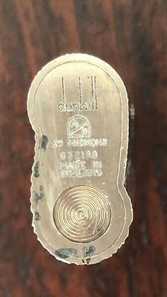Silver Dunhill Rollagas Lighter - Bark Effect. Great Condition