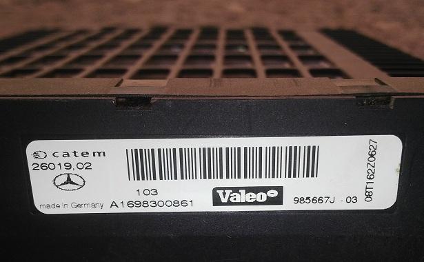Mercedes Benz   Electric Heater Matrix Element  (P.no A1698300861)